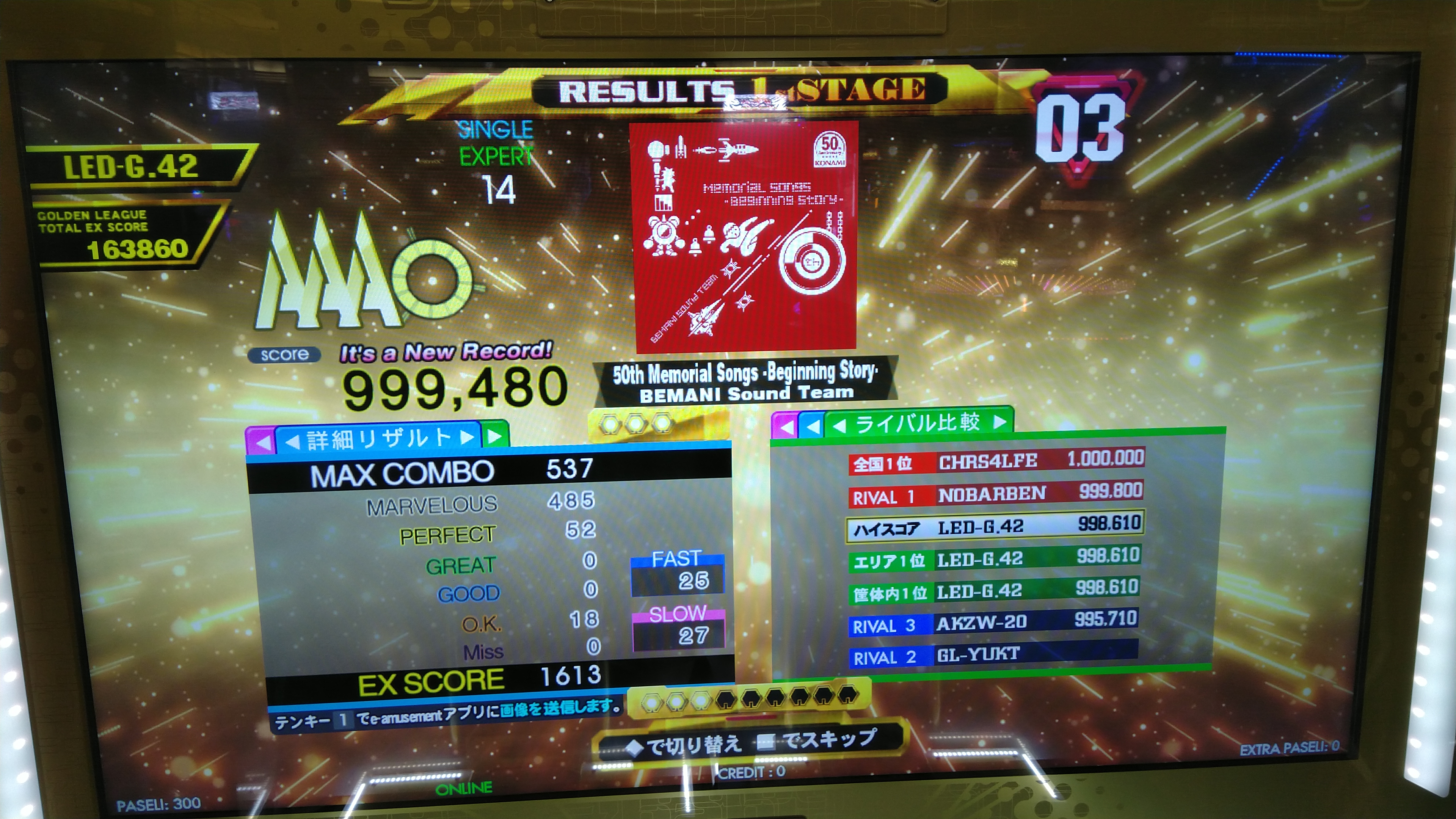 50th Memorial Songs -Beginning Story- ESP DDR A20 AC