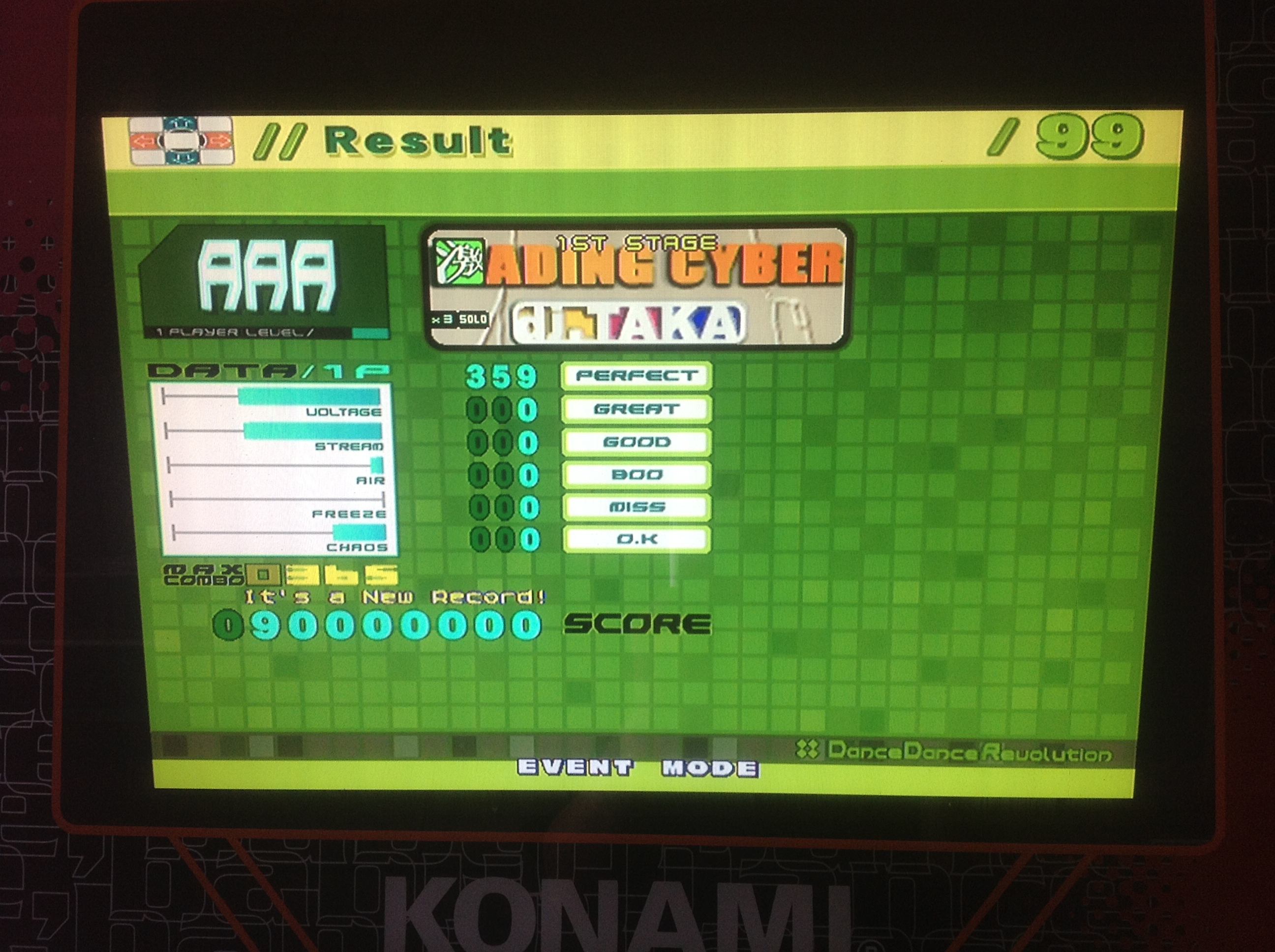 Kon - LEADING CYBER (Heavy) AAA on DDR EXTREME (Japan)