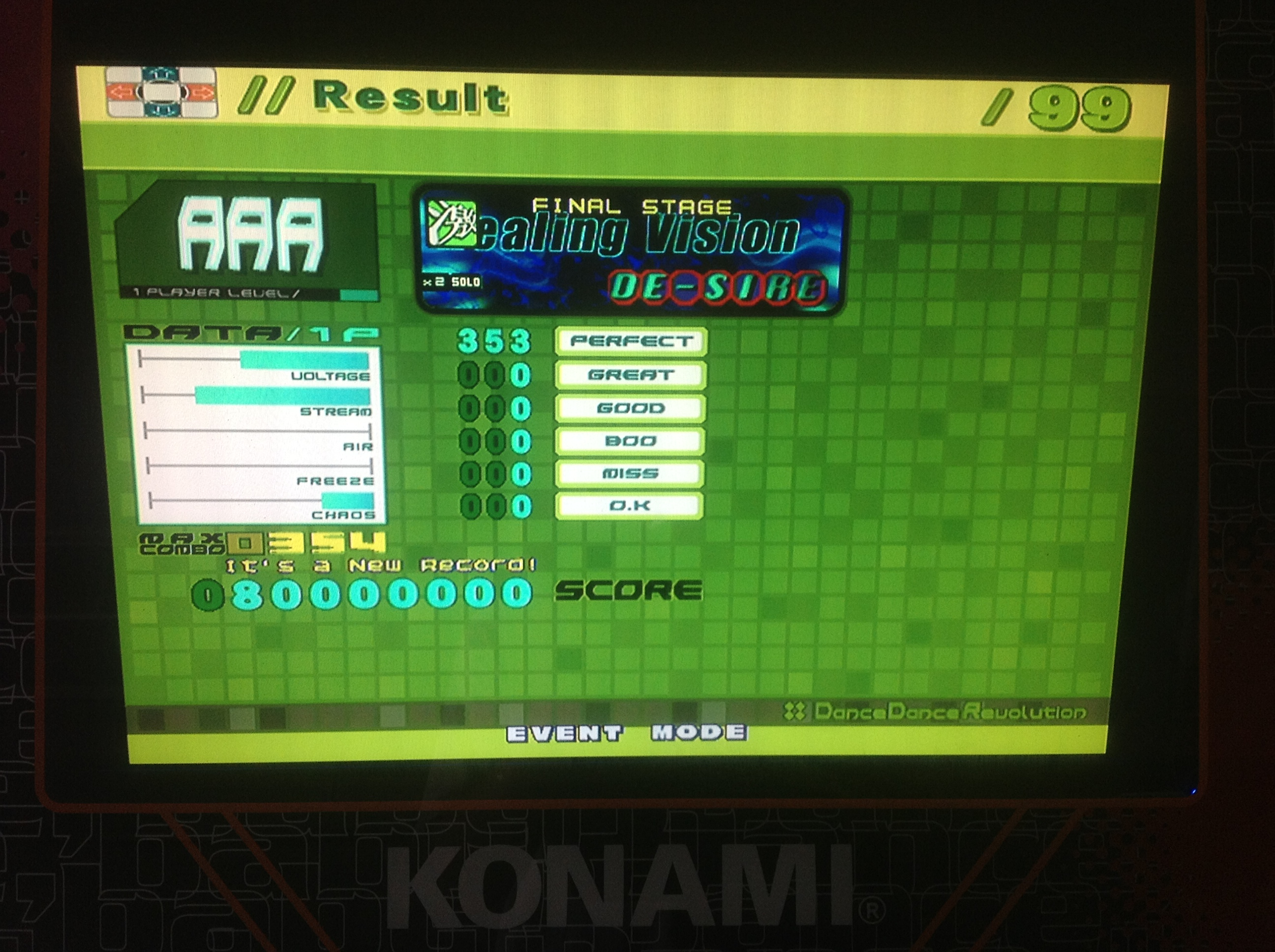 Kon - HEALING VISION (Heavy) AAA on DDR EXTREME (Japan)