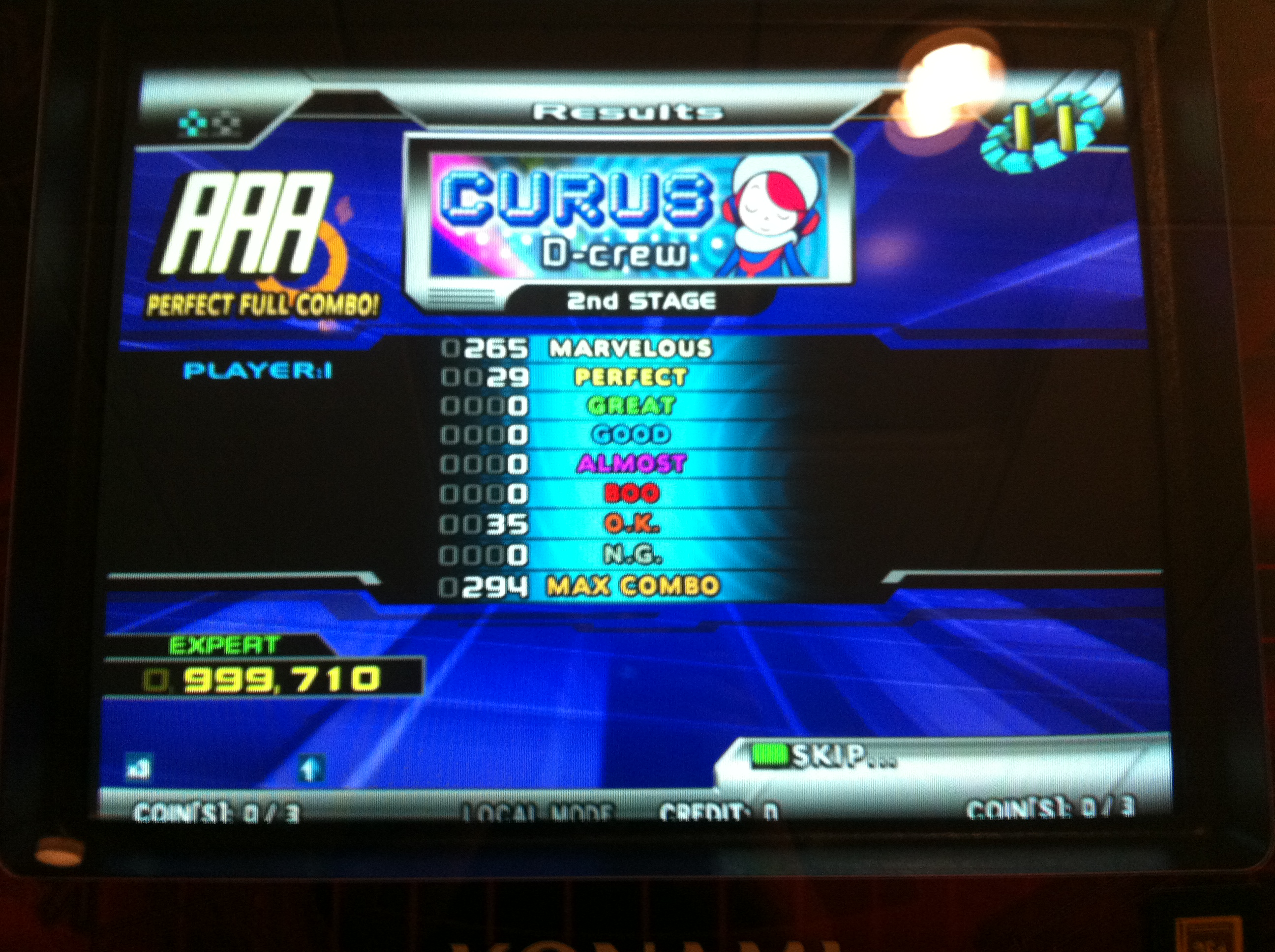 Kon - CURUS (Expert) PFC AAA on DDR SuperNOVA 2 (North America)