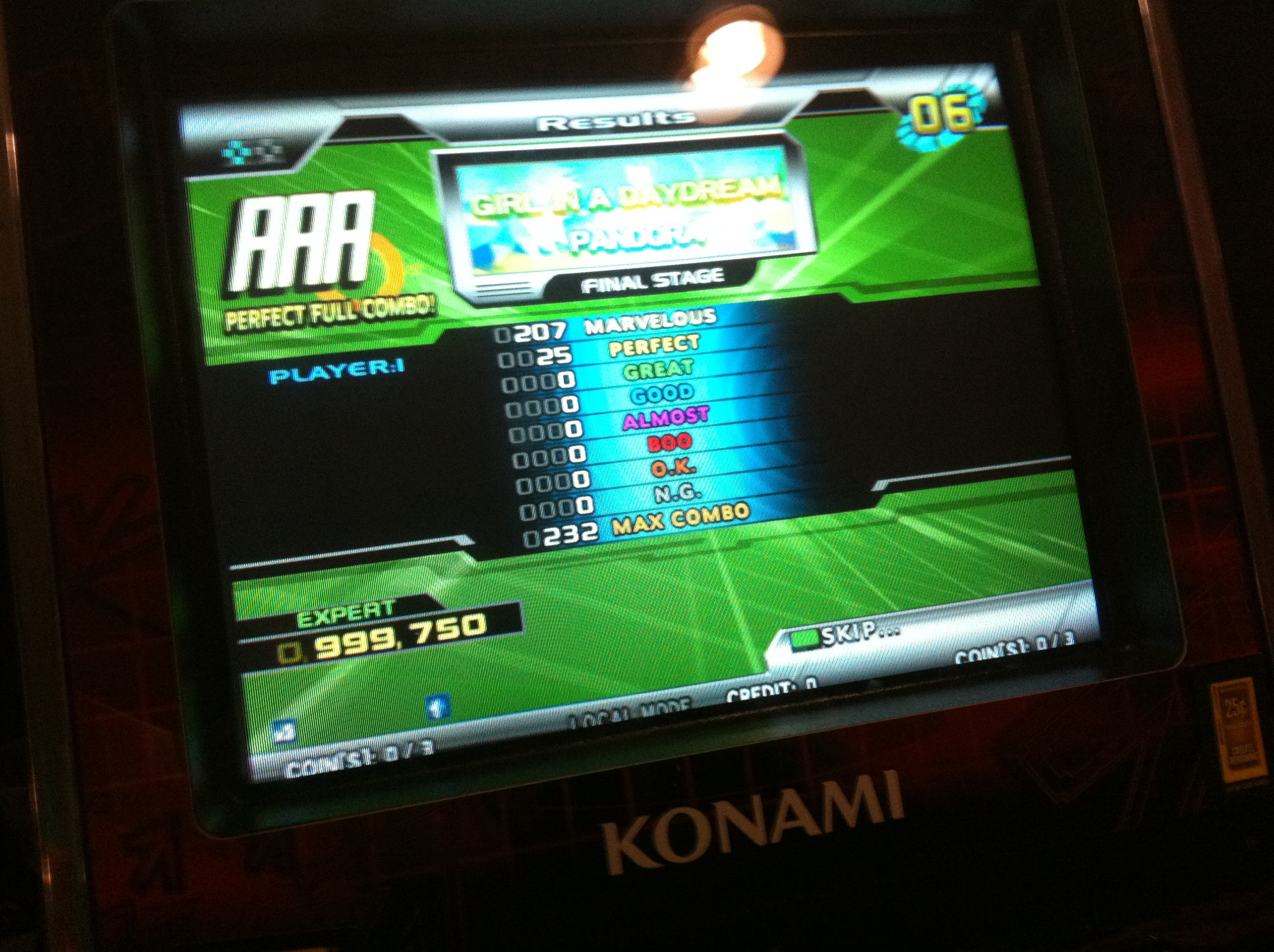 Kon - GIRL IN A DAYDREAM (Expert) PFC AAA on DDR SuperNOVA 2 (North America)