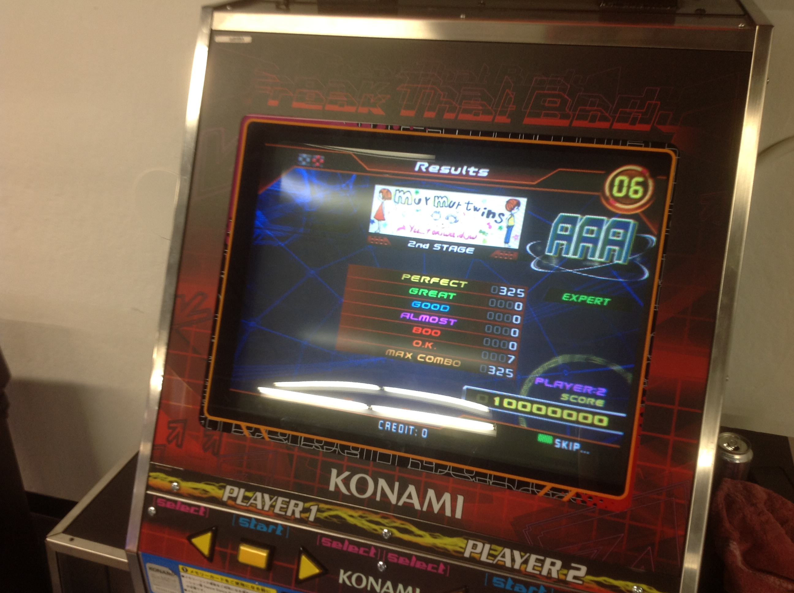 Kon - murmur twins (Expert) AAA on DDR SuperNOVA (North America)