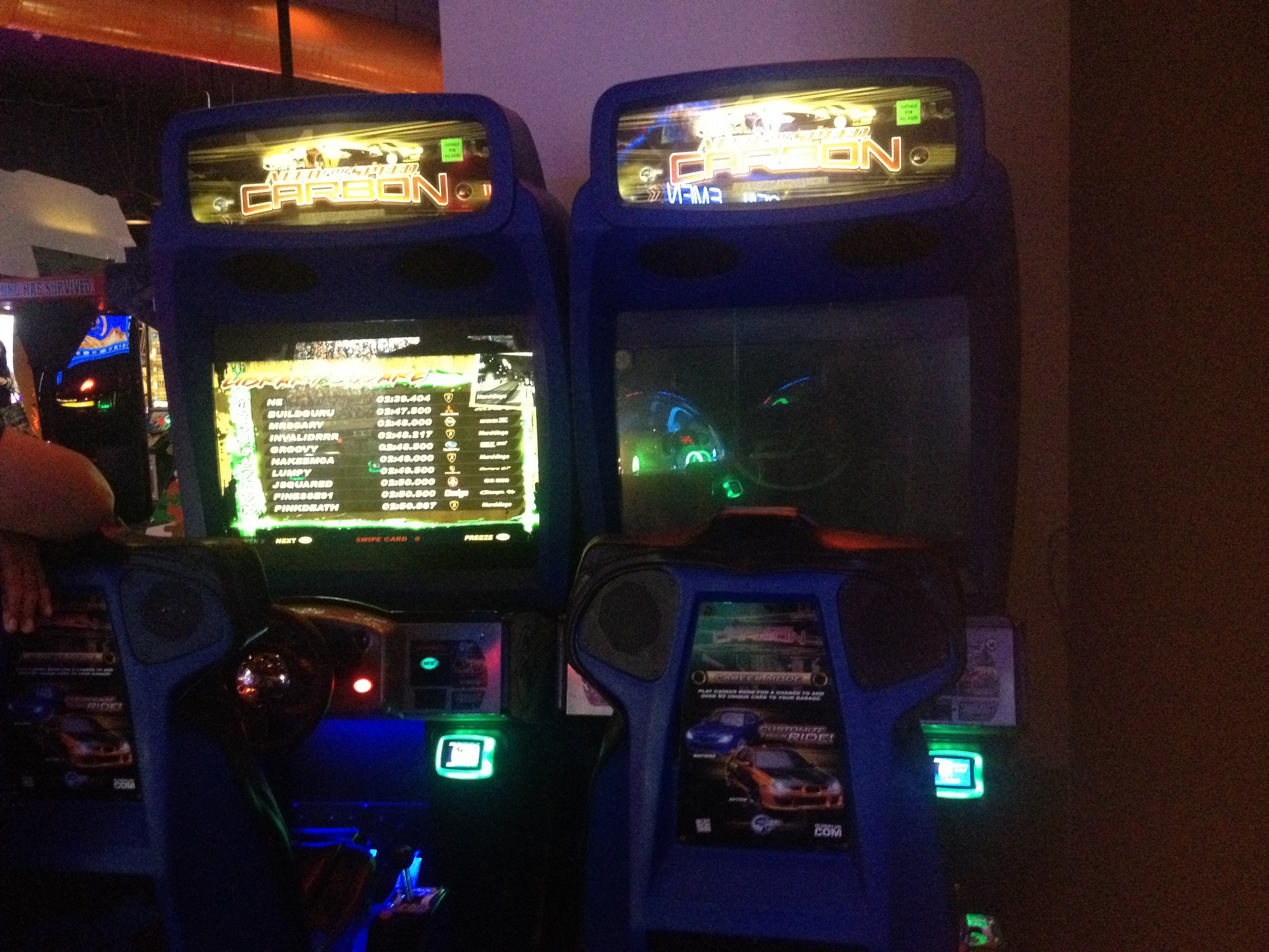 Need For Speed Carbon Dave Amp Busters Santa Anita Arcade