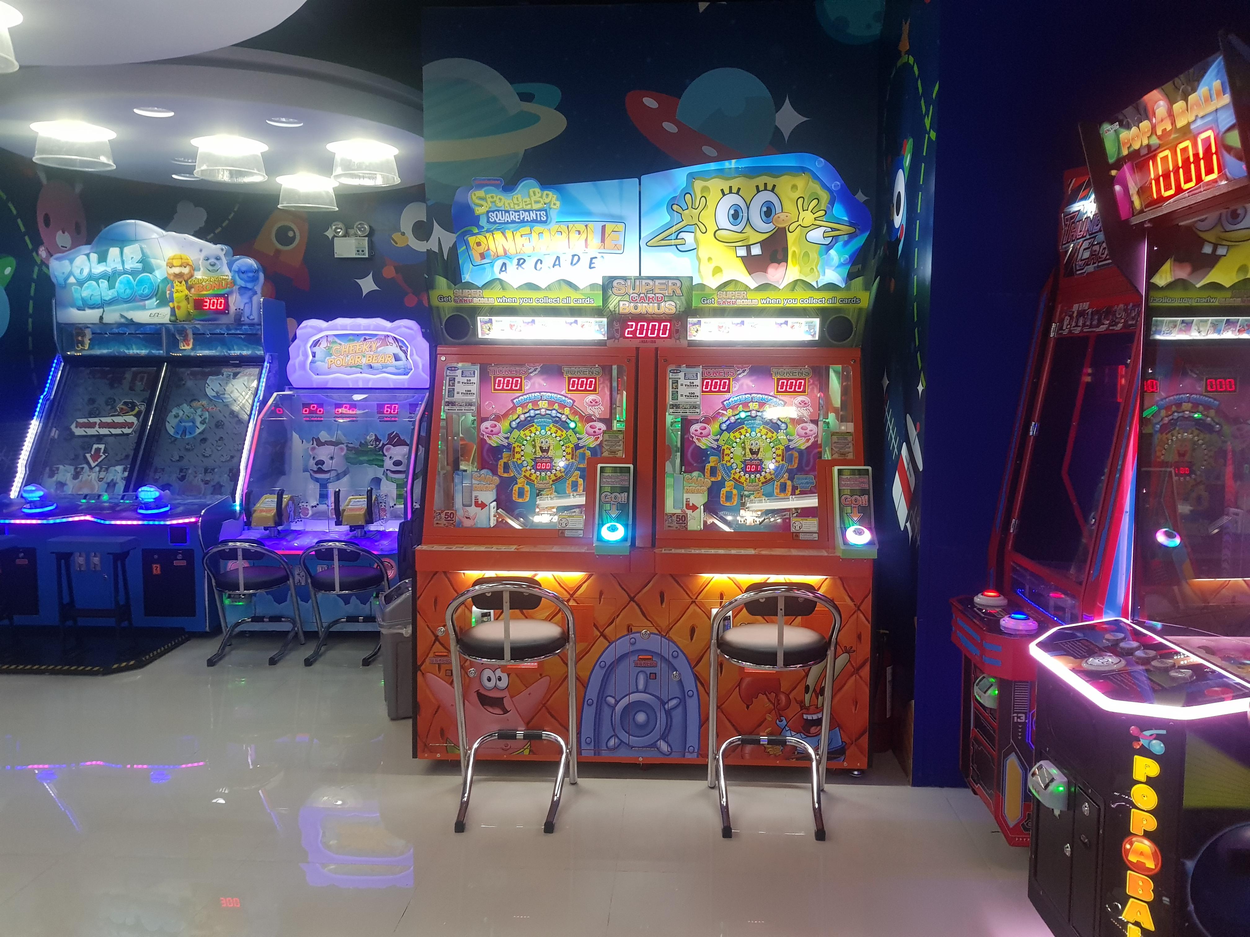 Spongebob coin pusher in QPS Santolan - Arcade Locations