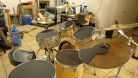 Drum Kit Left Side view